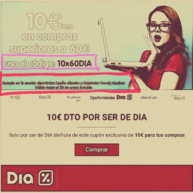 Cupon de 10€ para  (0P0RTUNIDADES.DIA.ES) - VÁLIDO HASTA 28/01/18