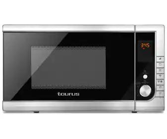 Microondas con grill TAURUS capacidad 23L, potencia 900W