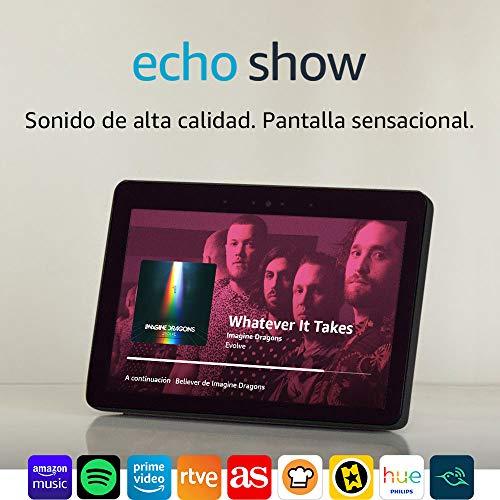 Echo Show (2.ª generación) + Bombilla Philips Hue White LED E27 REGALO
