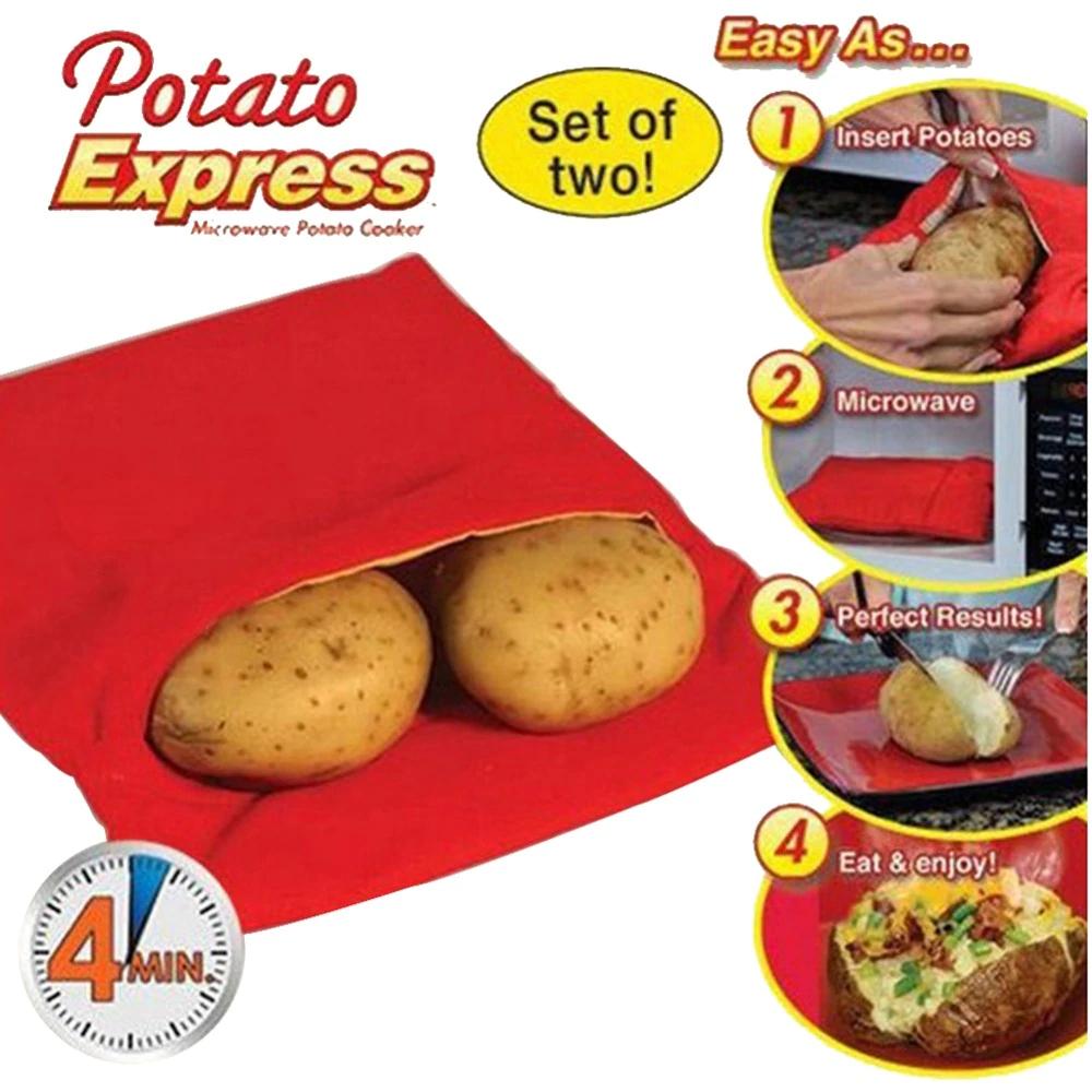 Bolsa para asar patatas en el microondas en 4 minutos
