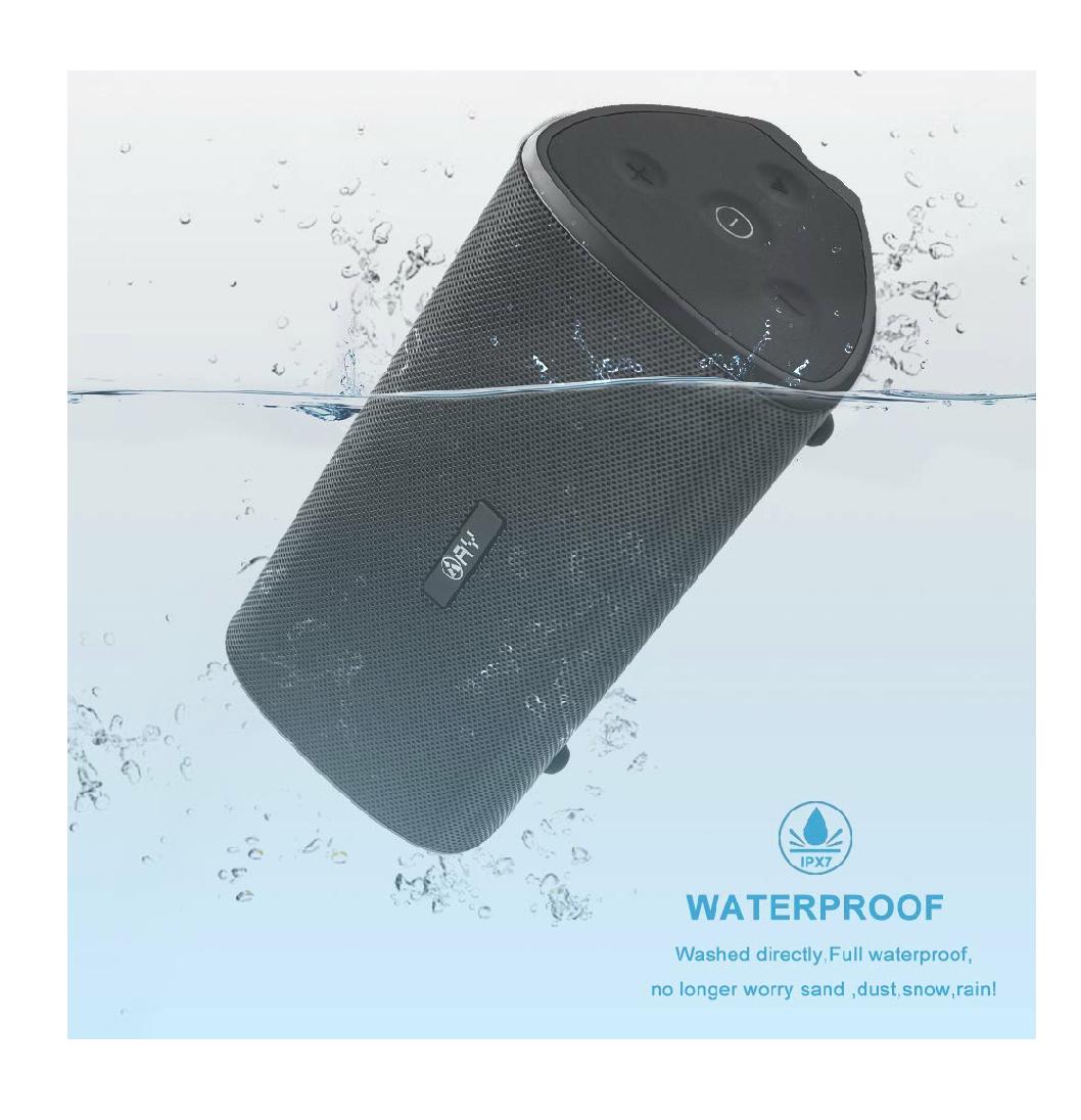 Vuelve en oferta flash!! Altavoz Portátil Bluetooth 4.2 AY de 30W Impermeable IPX7