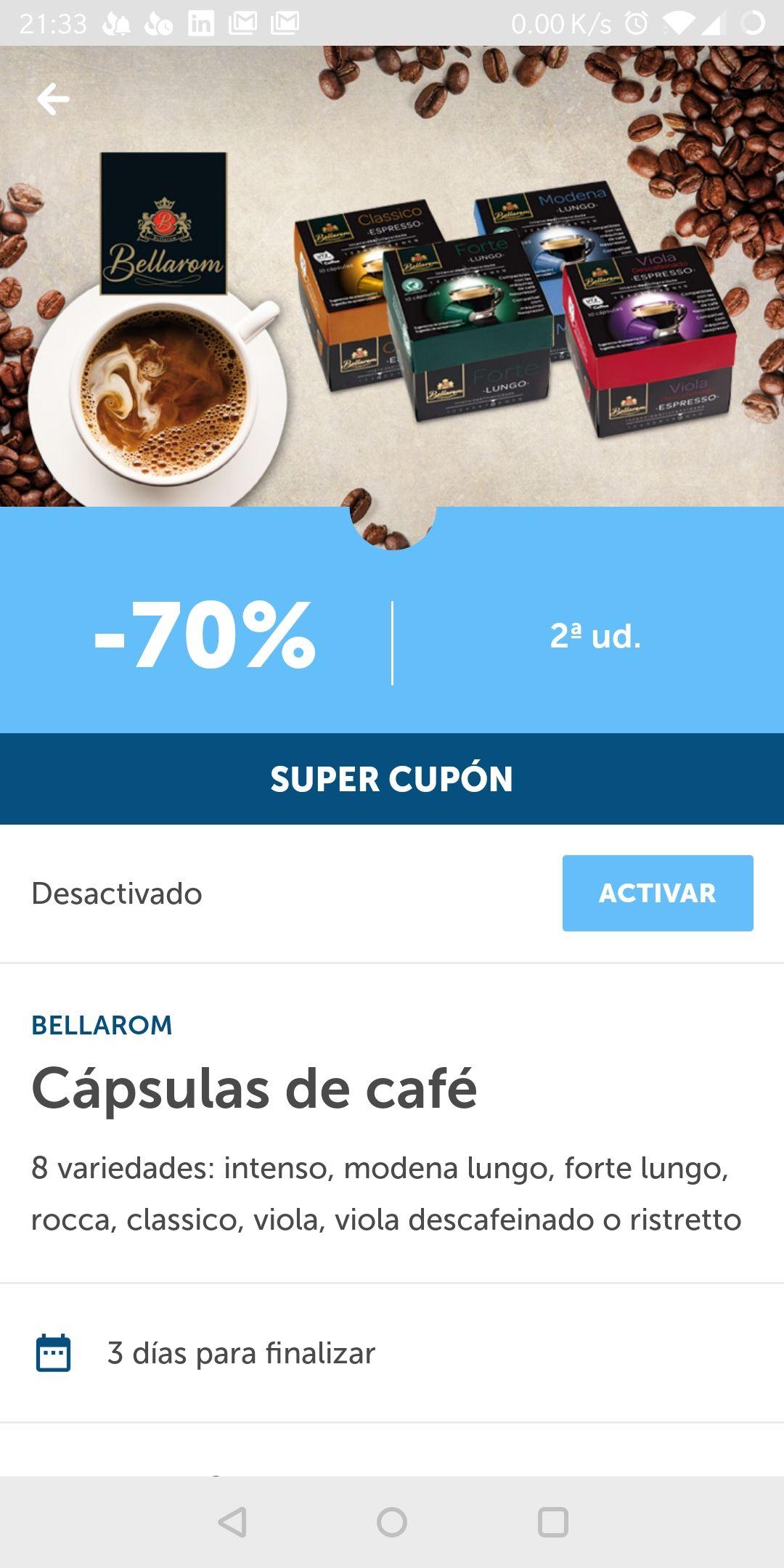 Caspulas compatible Nespresso Lidl. 2nda a 70%