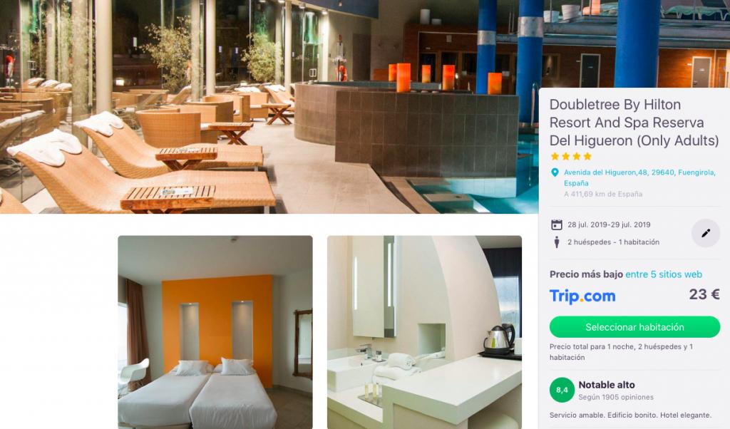 Hotel Hilton & Spa 4* en Fuengirola por 23 euros