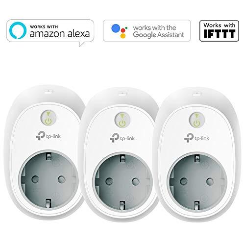 Tres Enchufe Inteligente Wi-Fi TP-LINK HS100P3 (Alexa, Google Home, IFTTT)