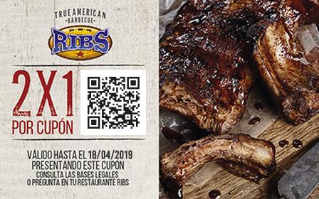 ¡2x1 en cenas RIBS de Domingo a Jueves! Madrid