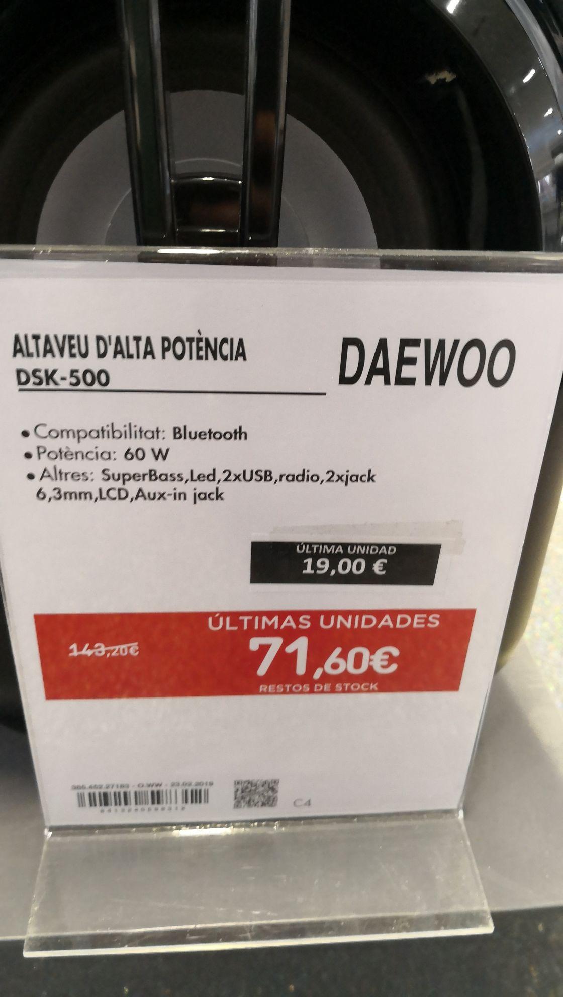 Altavoz Daewoo DSK-500