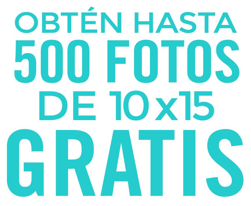 Hasta 500 fotos de regalo al año de tamaño 10×15 desde tu móvil