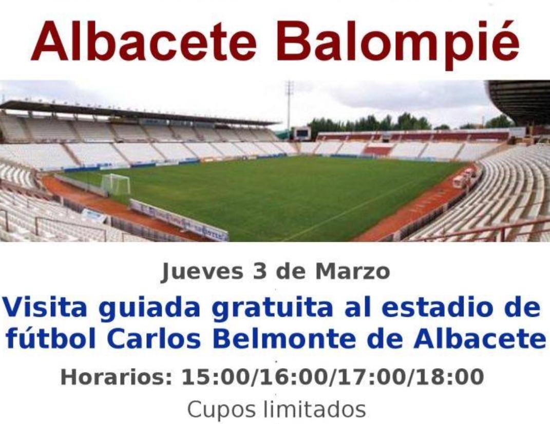 ALBACETE (domingo 3 de marzo): Visita guiada al Carlos Belmonte (GRATIS)