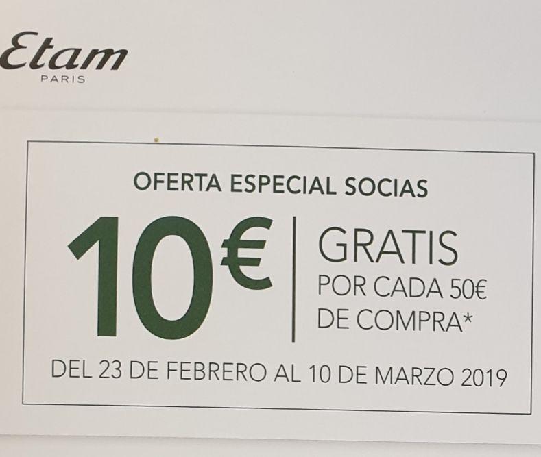 10€ gratis por cada compra de 50€