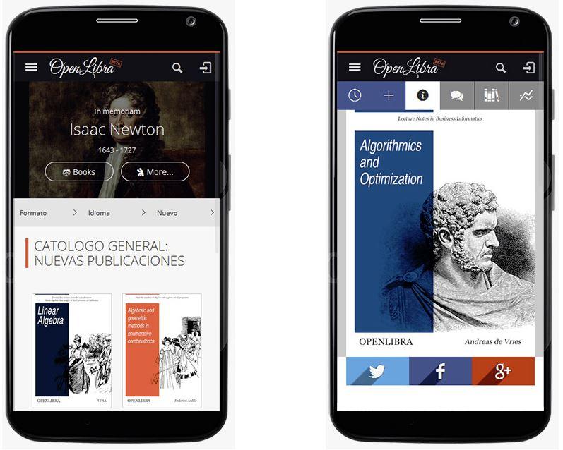OpenLibra, más de 3.000 libros gratis para leer desde el móvil