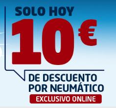 10€ de descuento por cada neumático - EUROMASTER