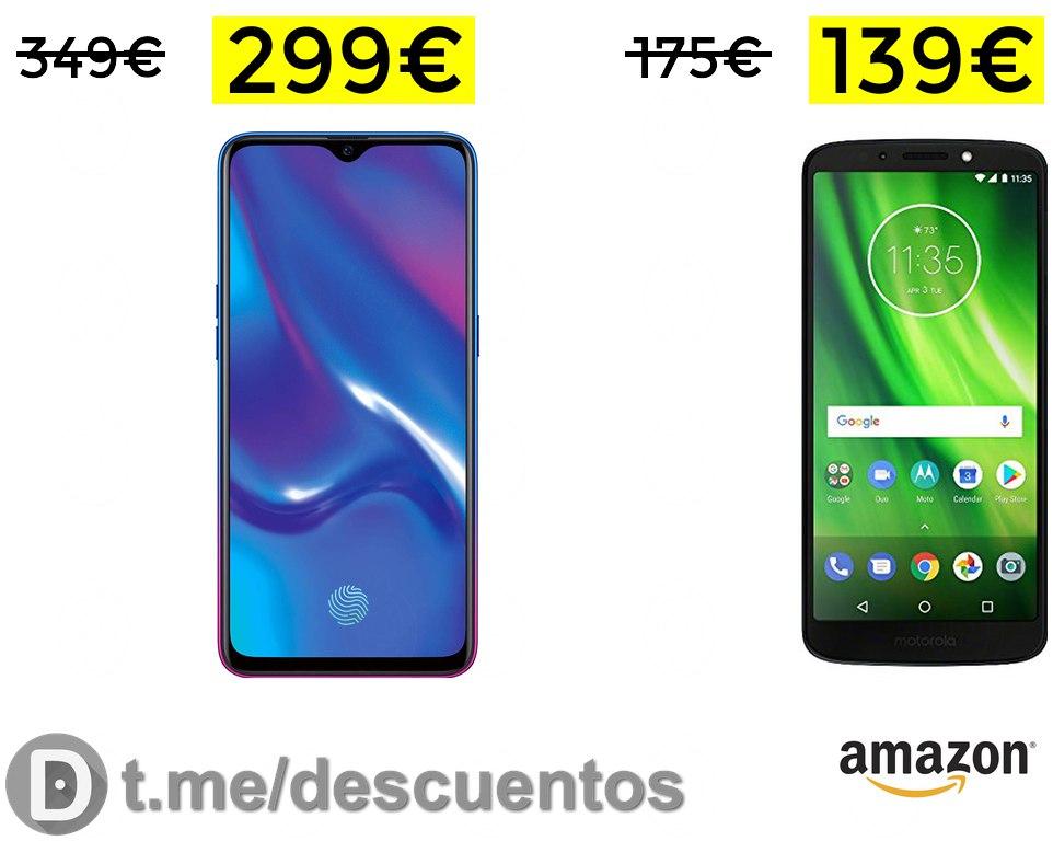 Moto G6 Play 3/32GB a 139€ y Oppo R17 Neo 4GB 128GB solo 299€