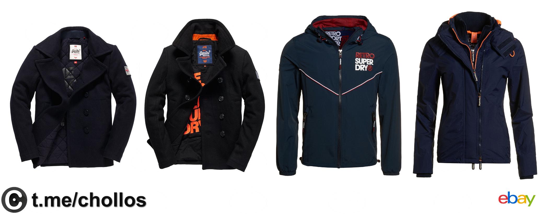 Liquidación de chaquetas y abrigos SuperDry