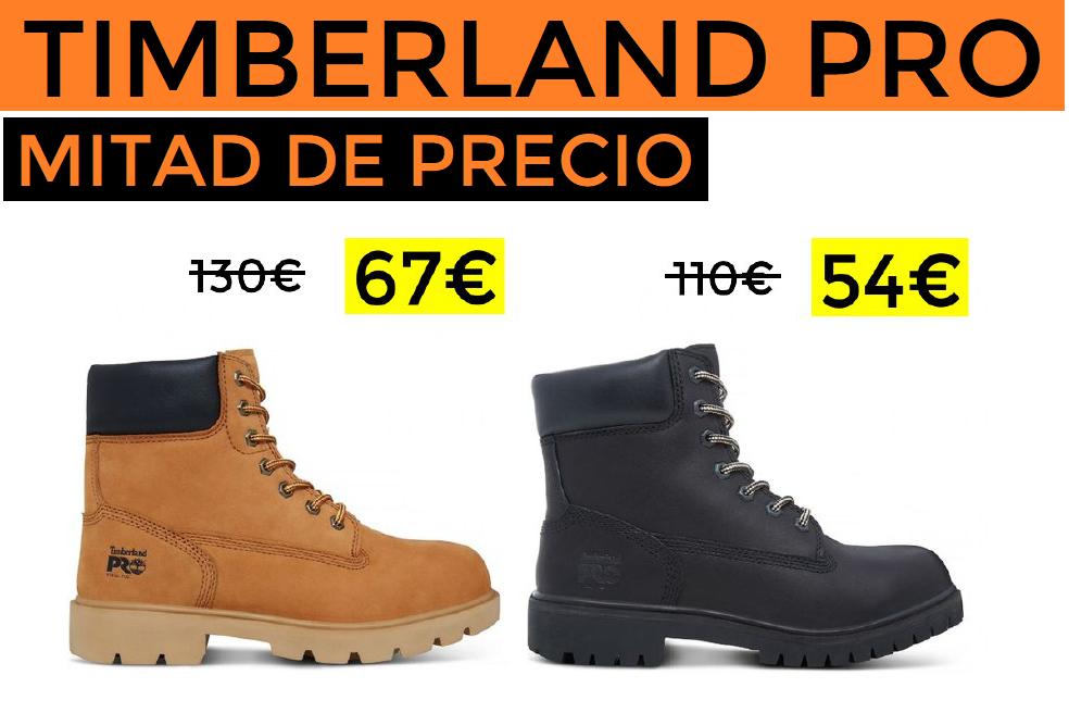 50% de descuento + 10% EXTRA Timberland PRO