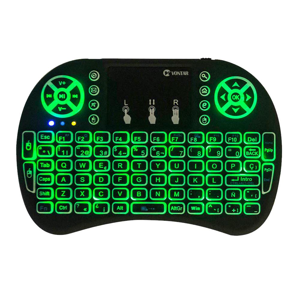 Mini teclado retroiluminado español