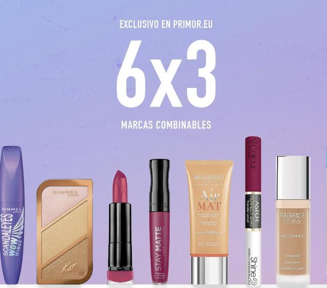 PROMO 6X3 COLOR (Rimmel, L'Oréal, Bourjois, Max Factor, Nivea y otras)