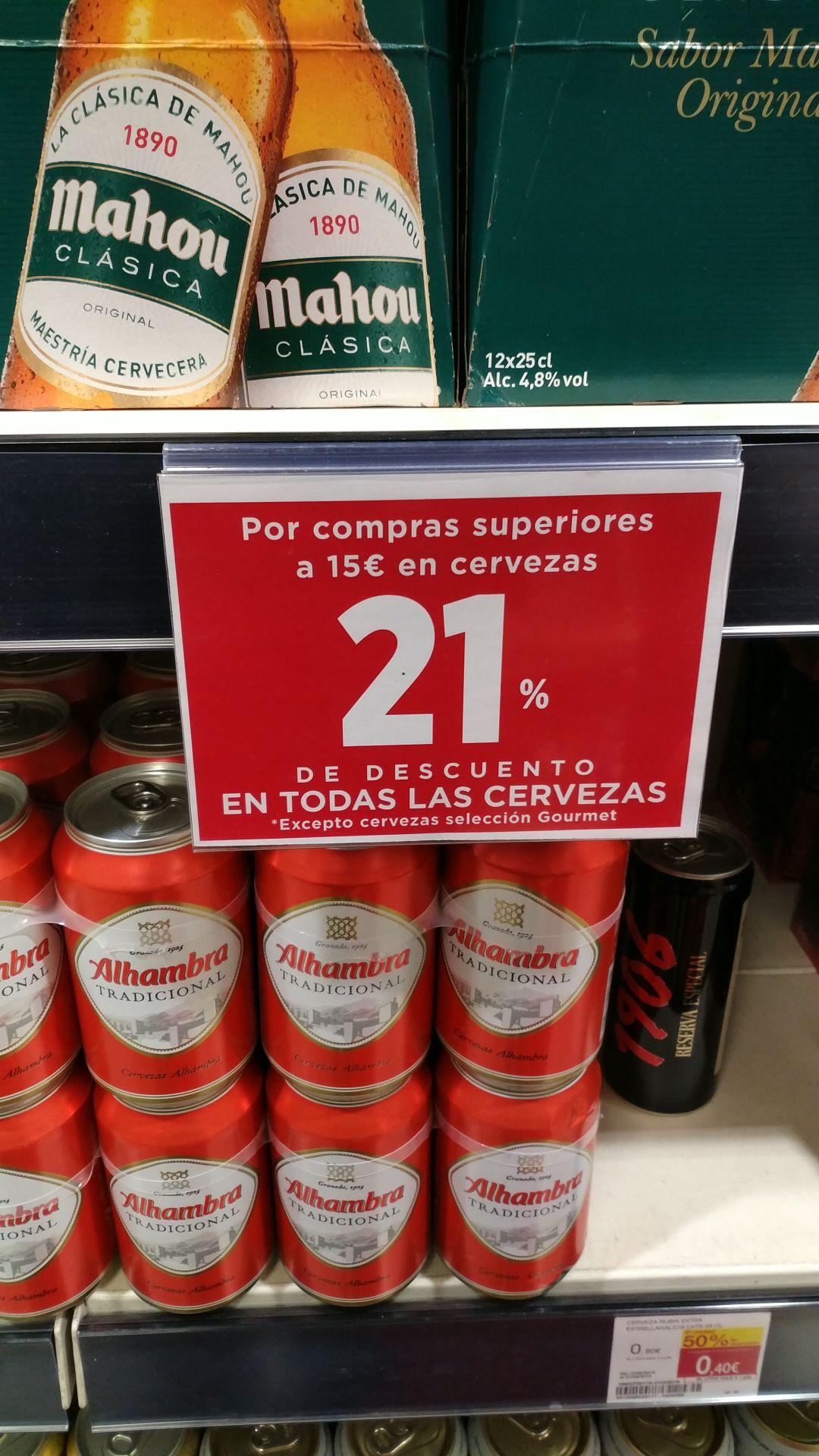 21% de descuento en Cervezas