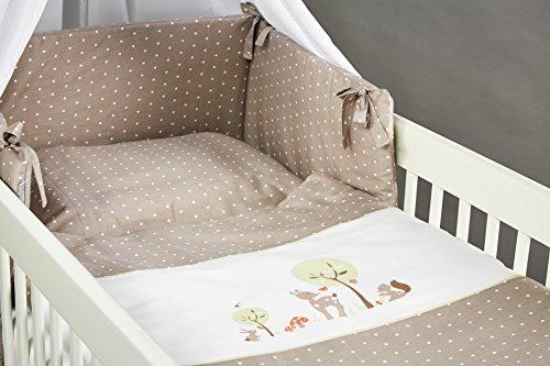 Ropa de cama para cunas y chichonera