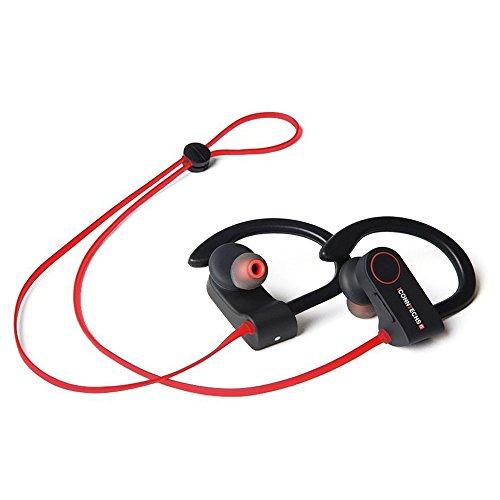 Auriculares Bluetooth, auriculares sin cables (Bluetooth 4.1), cascos con micrófono, cancelación de ruido, fijadores y a prueba de sudores