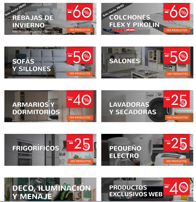 Ofertas en Conforama. Colchones, lavadoras, sofás... hasta 60%