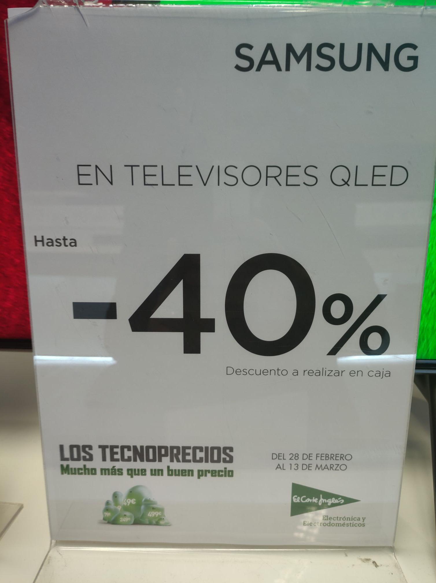 Liquidación TV's Samsung Qled en El Corte Inglés