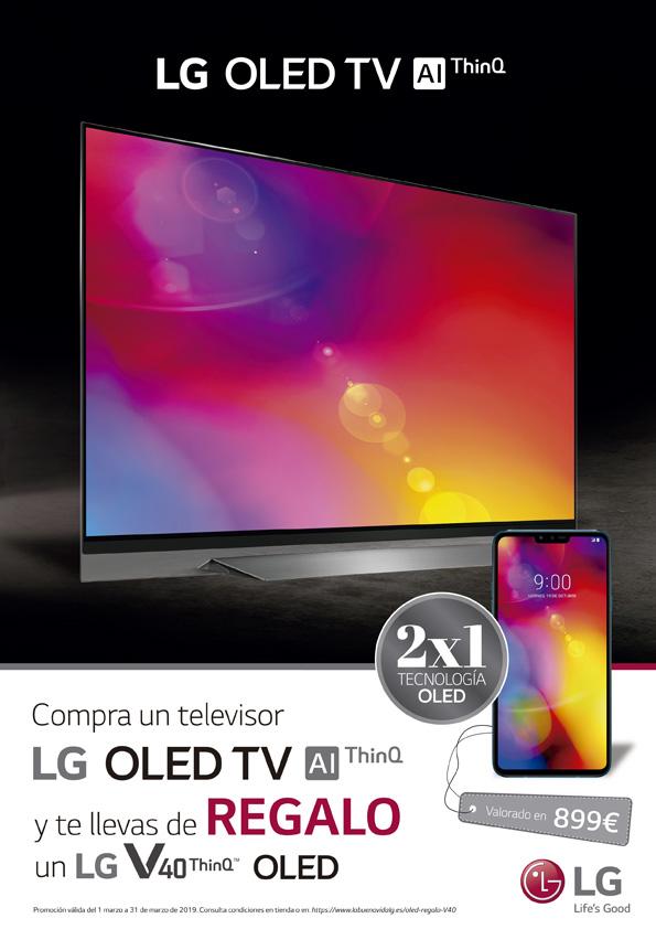 Compra TV LG OLED y de regalo un móvil LG V40