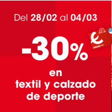 EROSKI (Del 28/02 al 04/03): 30% en Textil y Calzado de deporte