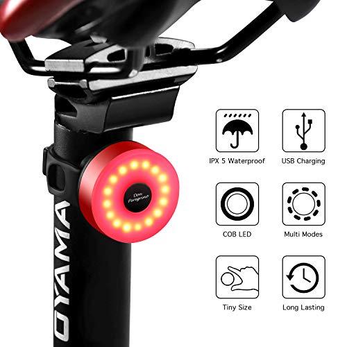 Luz trasera bici 5 modos