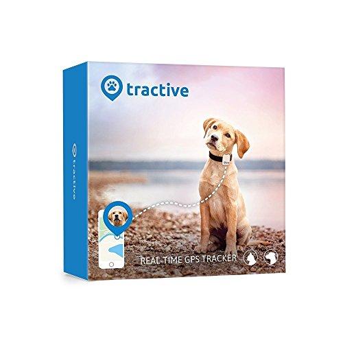 Rastreador Tractive GPS para perros y gatos - resistente al agua se ajusta al collar, color blanco