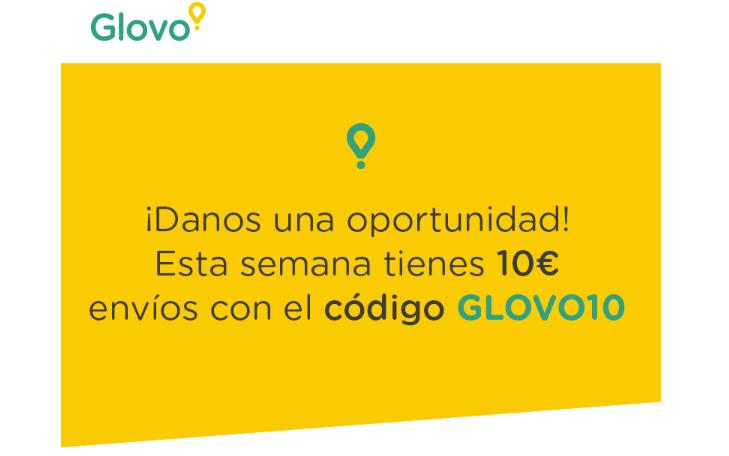 10€ en envíos GLOVO (nuevos usuarios)