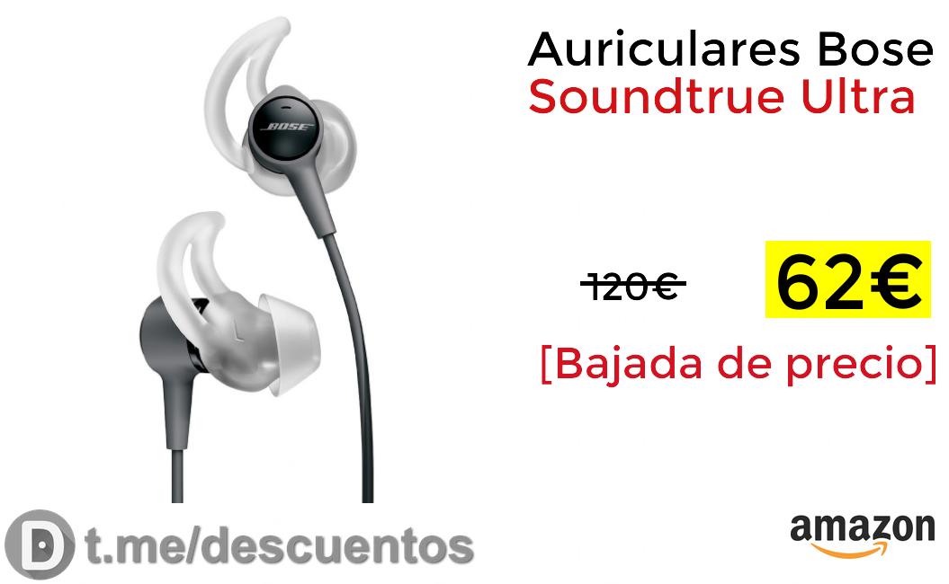 Auriculares Bose Soundtrue Ultra solo 62€