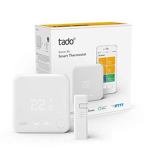 Tado - Termostato Inteligente Kit de Inicio V3+ - Control inteligente de calefacción - Alexa