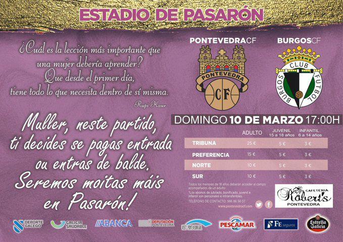 Entradas fútbol gratuita para mujeres