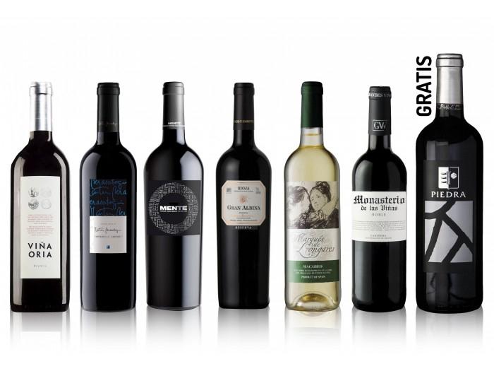 6x Vinos cata + Magnum 2014 solo 29.9€