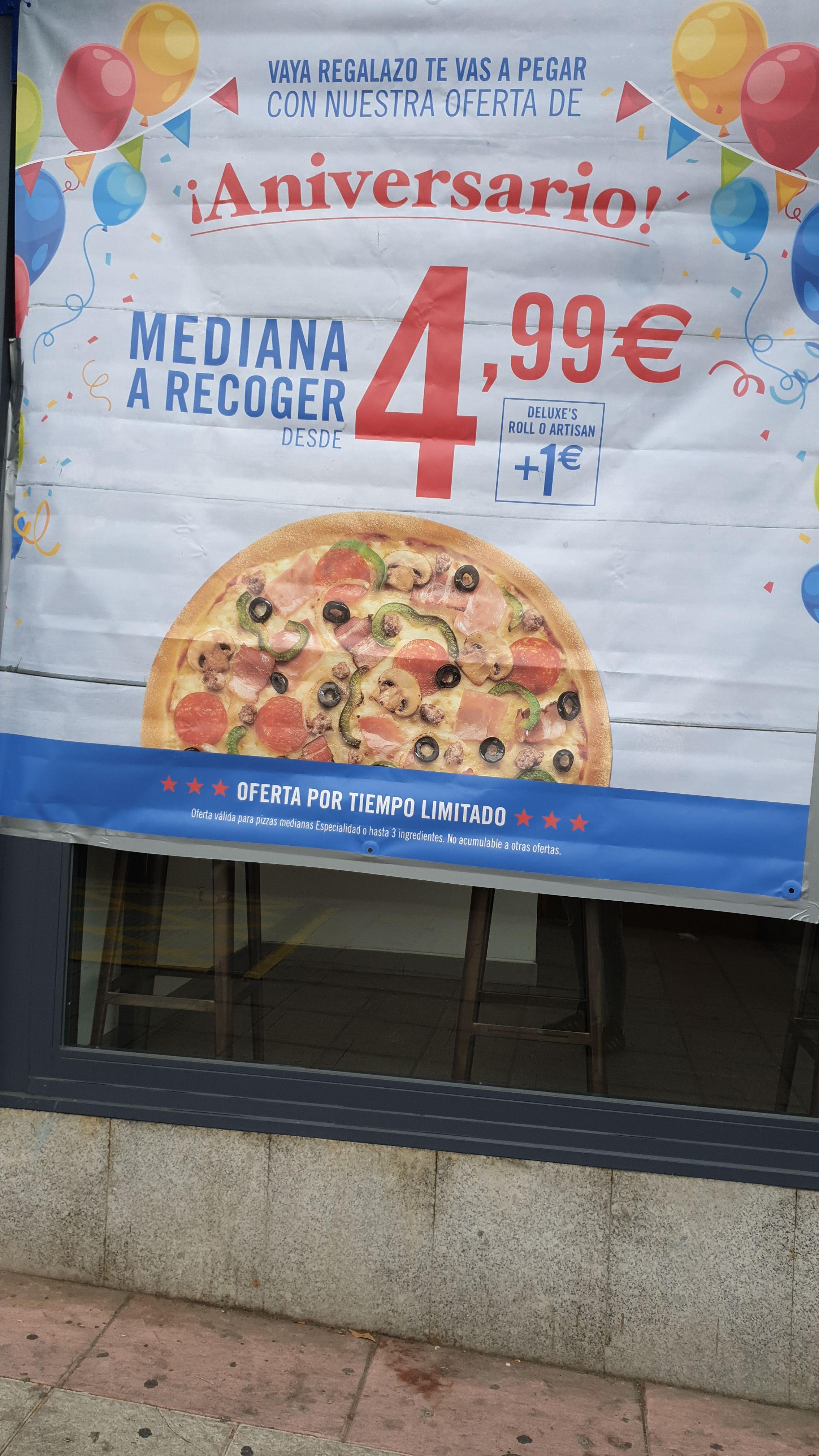 Pizza Mediana Dominos 4,99€
