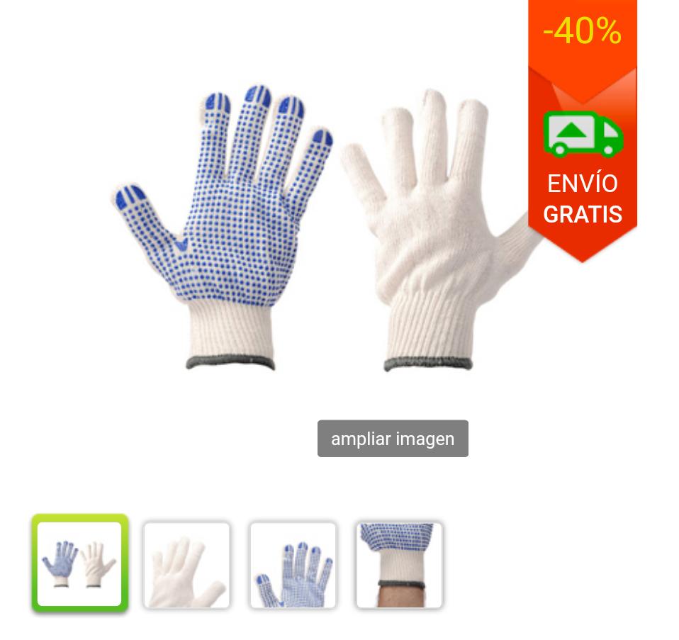 5 pares de guantes de trabajo