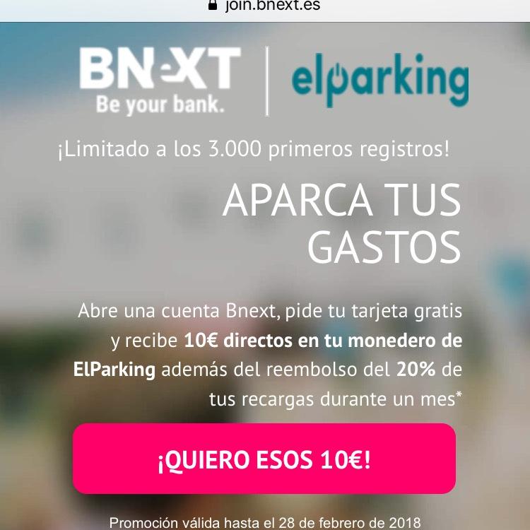 10€ gratis para elparking