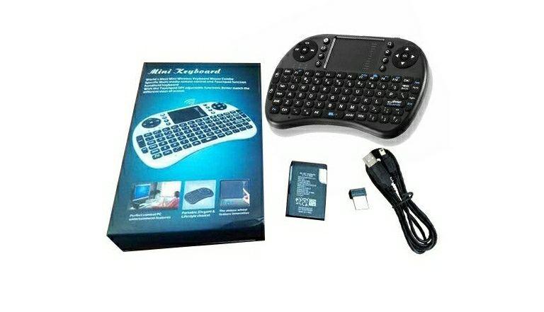Mini teclado teclado inalámbrico 2.4G English Air Mouse para TV BOX (DESDE ESPAÑA)