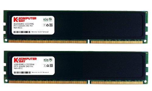 Komputerbay - memoria DDR3, 1333MHz,8GB (2 X 4GB)