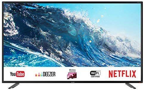 "Sharp LC-49UI7252E - UHD Smart TV de 49"" (resolución 3840 x 2160, HDR, 3X HDMI, 2X USB, 1x USB 3.0)"