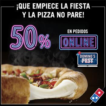 50% de descuento online en Domino's Pizza