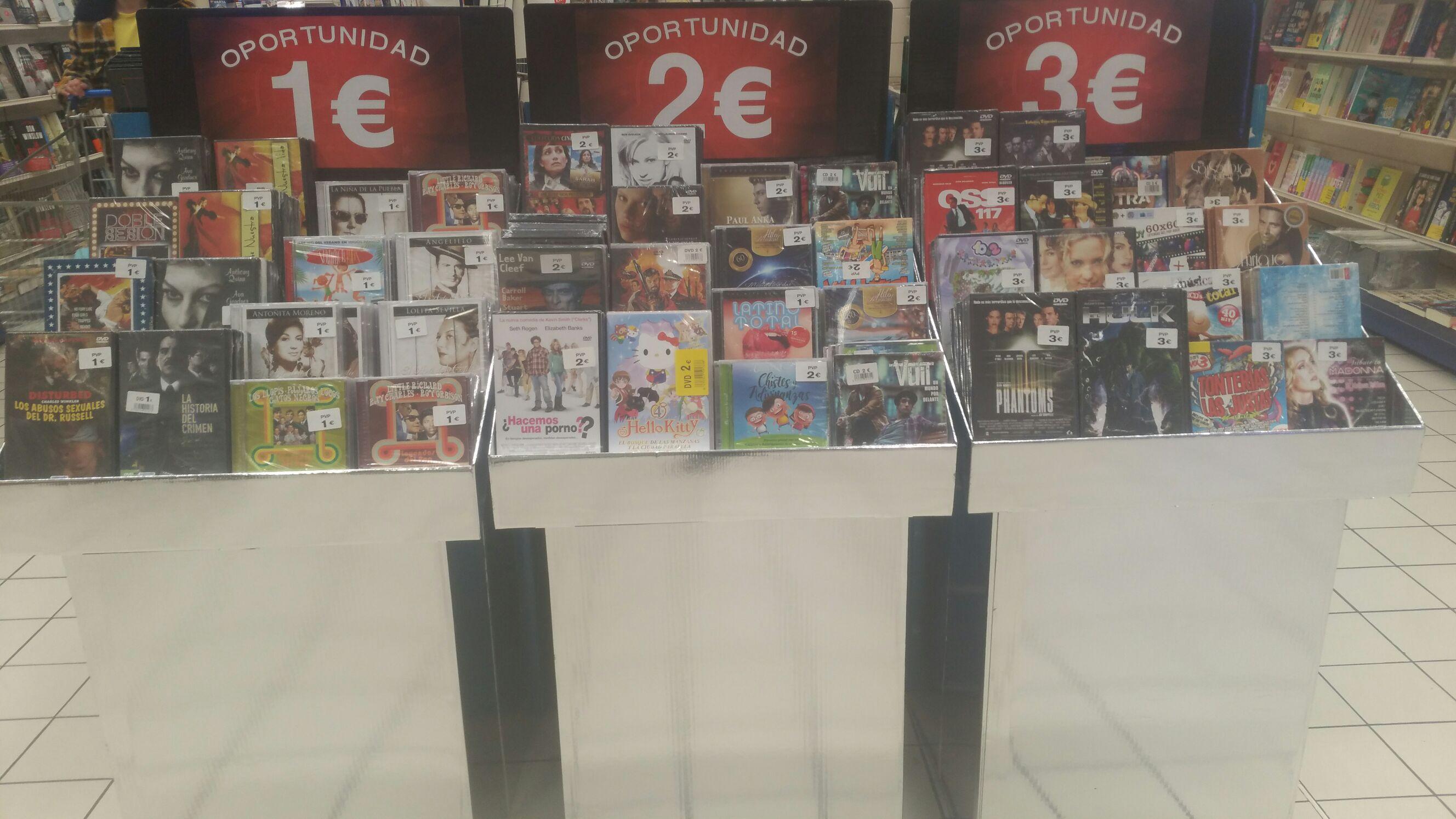 DVD's a 1, 2 o 3€ en Salamanca