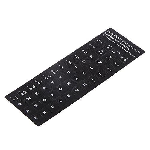 Pegatinas para teclado, alfabeto español