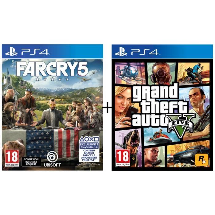 Far Cry 5 + GTA V (PS4, Físico)