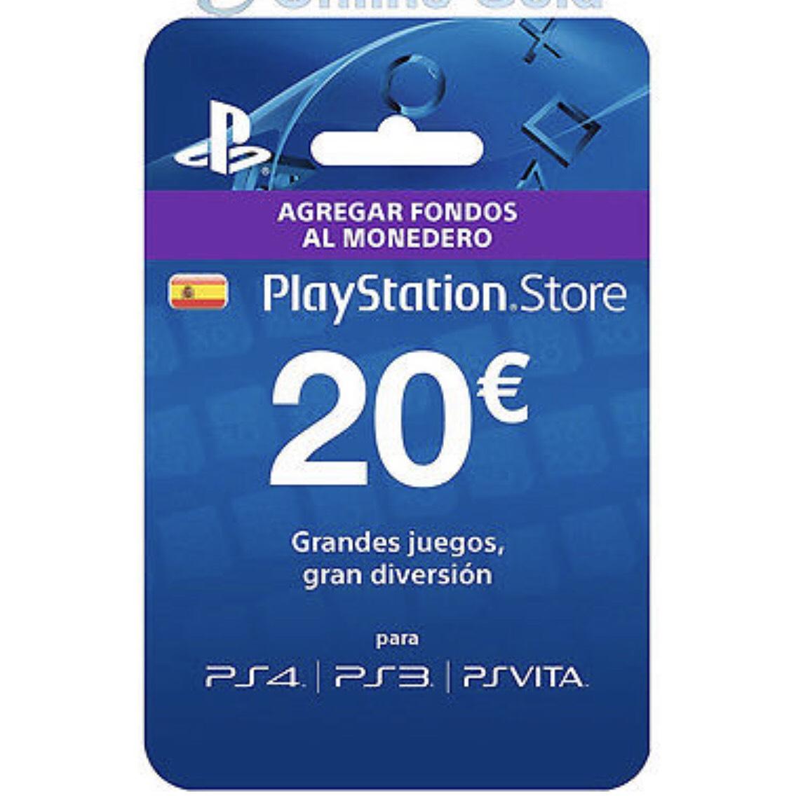 20€ en PlayStation Store por 16€