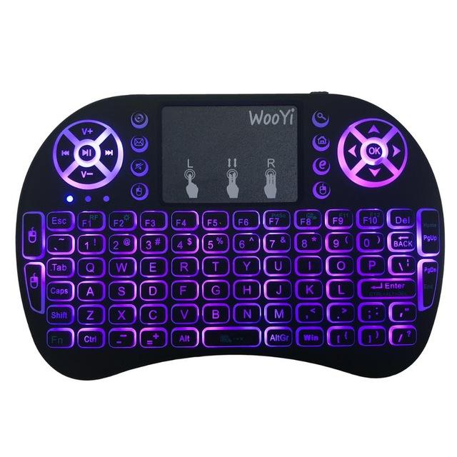 Mini teclado retroiluminado 3 colores
