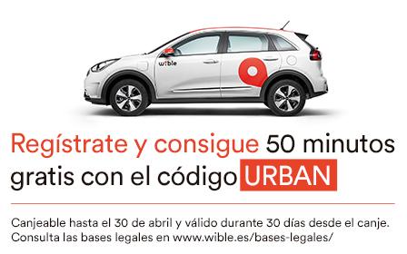50 minutos gratis de coche Wible para nuevos registros (Madrid)