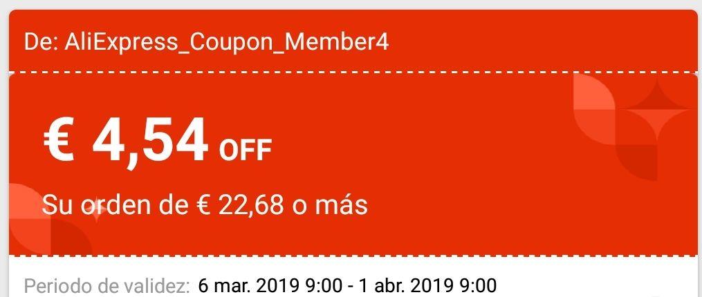 AliExpress cupon de 5$ gastando 25$ (Desde la app)
