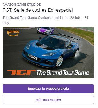 Twitch Prime: Consigue  gratis el Lotus Evora (TGT)