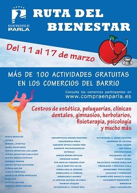 100 servicios y actividades GRATUITAS Ruta del Bienestar Parla Madrid